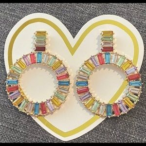 Multi-color Round Drop Earring - Never been worn